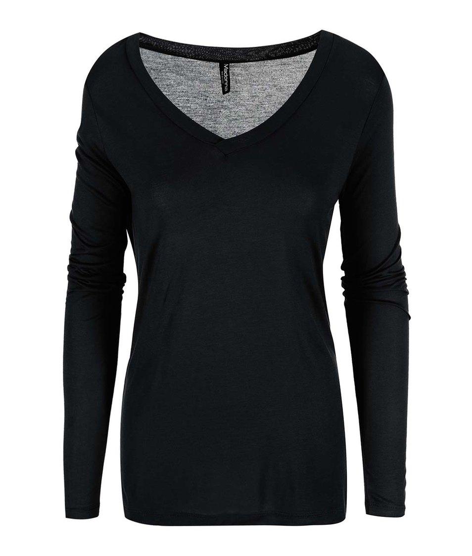 Černé tričko s dlouhým rukávem Madonna Avalon