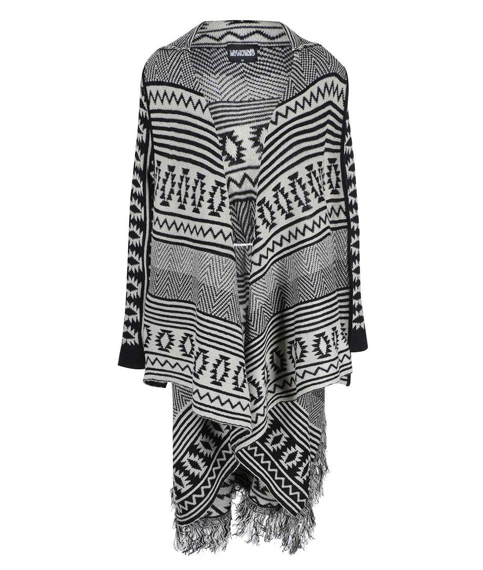 Béžovo-černý dlouhý cardigan Haily´s Kosina