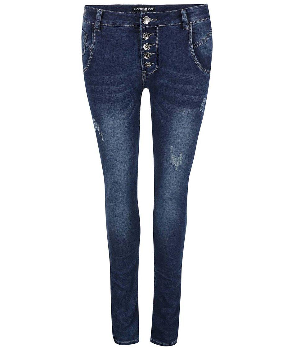 Tmavě modré džíny s potrhaným efektem Madonna Isela