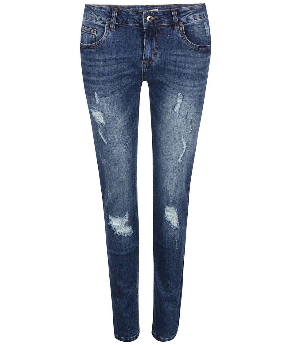 Modré džíny s potrhaným efektem Madonna Hede