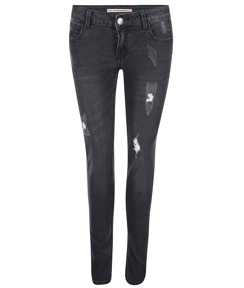 Černé džíny s potrhaným efektem Madonna Alena