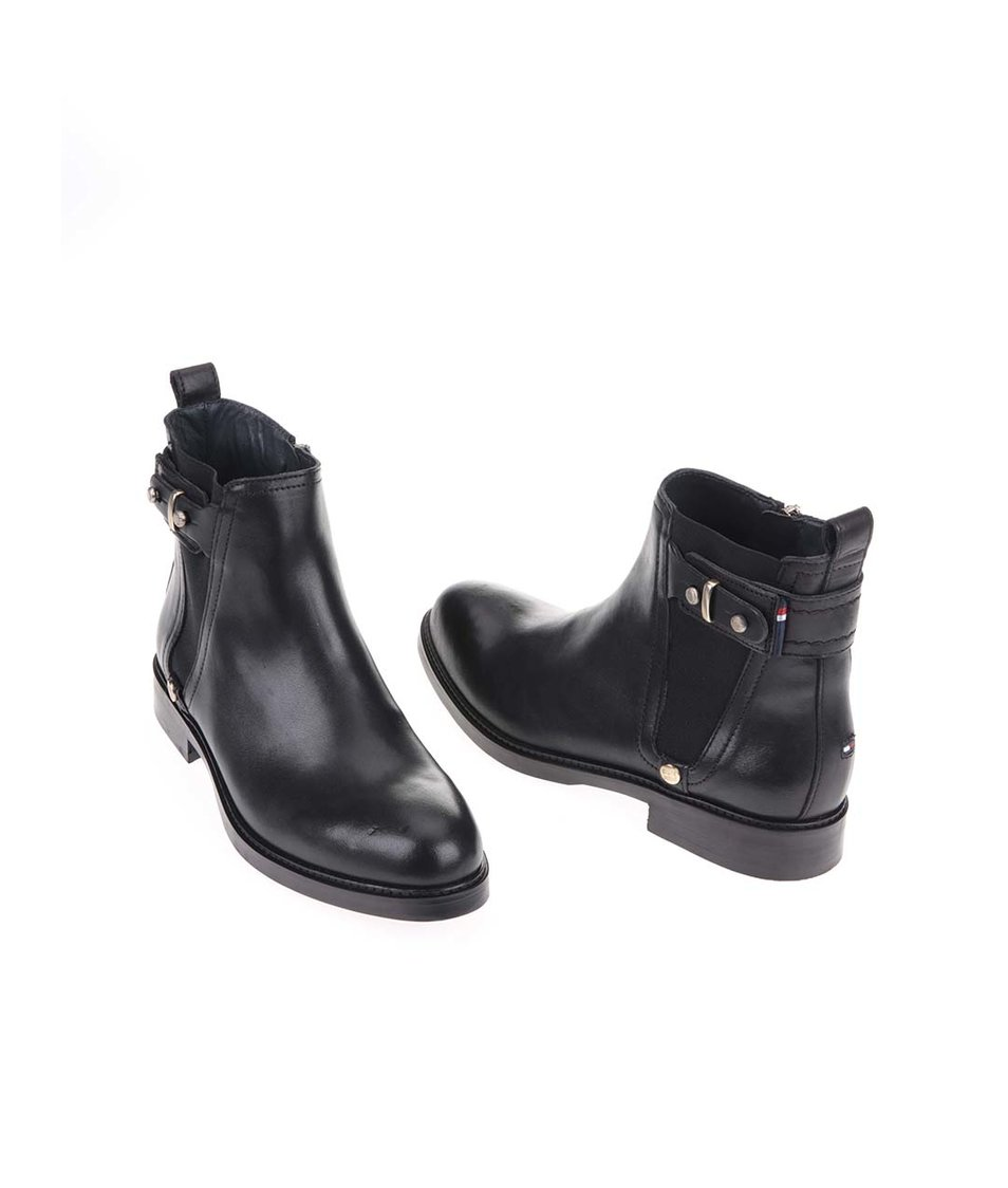 Černé dámské kožené kotníkové boty Tommy Hilfiger Holly - Vánoční ... 3f5d3cd672e