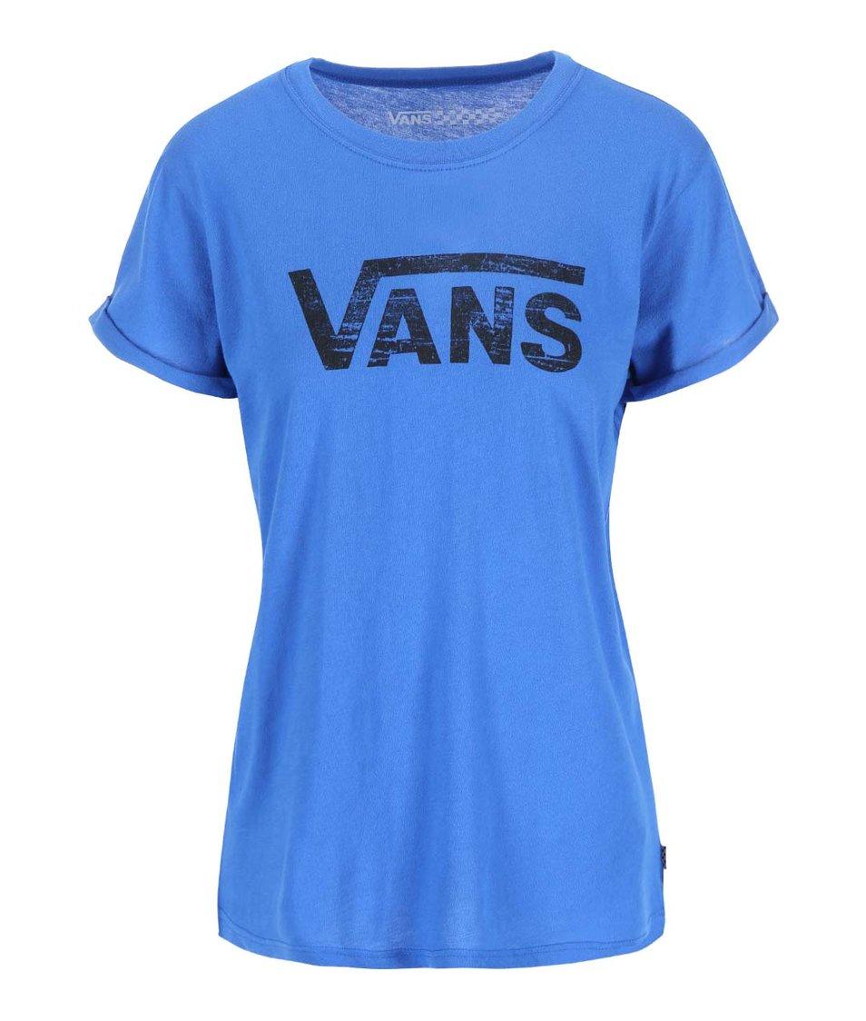 Modré dámské tričko s logem Vans