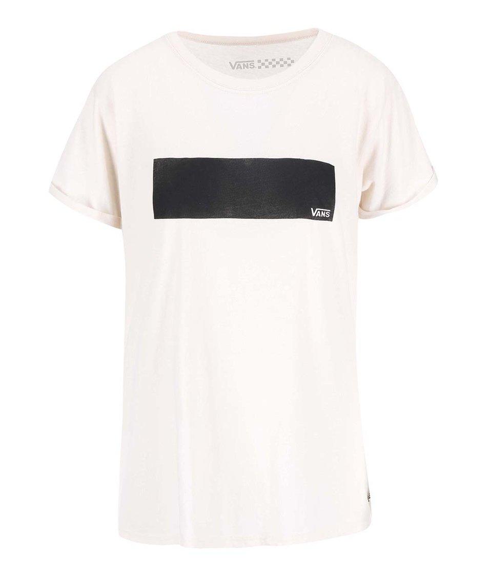 Krémové dámské tričko s potiskem Vans