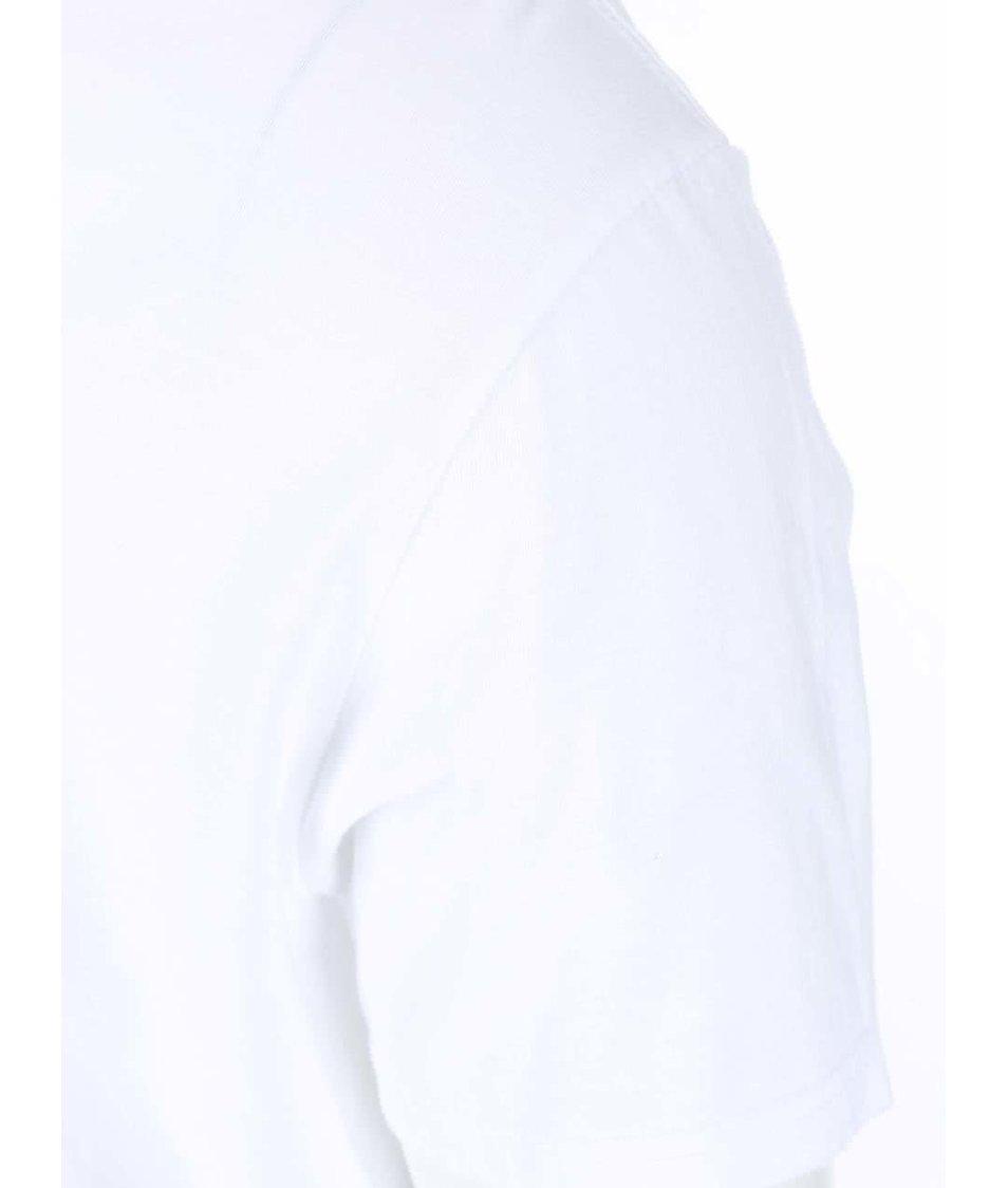 Bílé pánské triko s barevným logem Converse