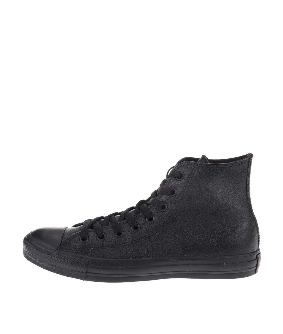 Černé unisex kožené kotníkové tenisky Converse Chuck Taylor All Star ... 89438683604