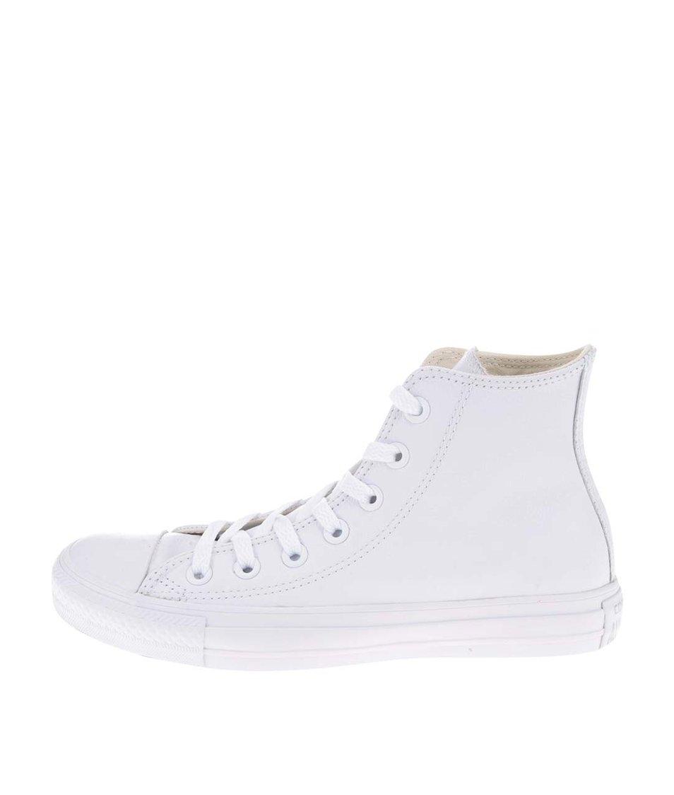 Bílé unisex kožené kotníkové tenisky s logem Converse Chuck Taylor All Star c23961c50f