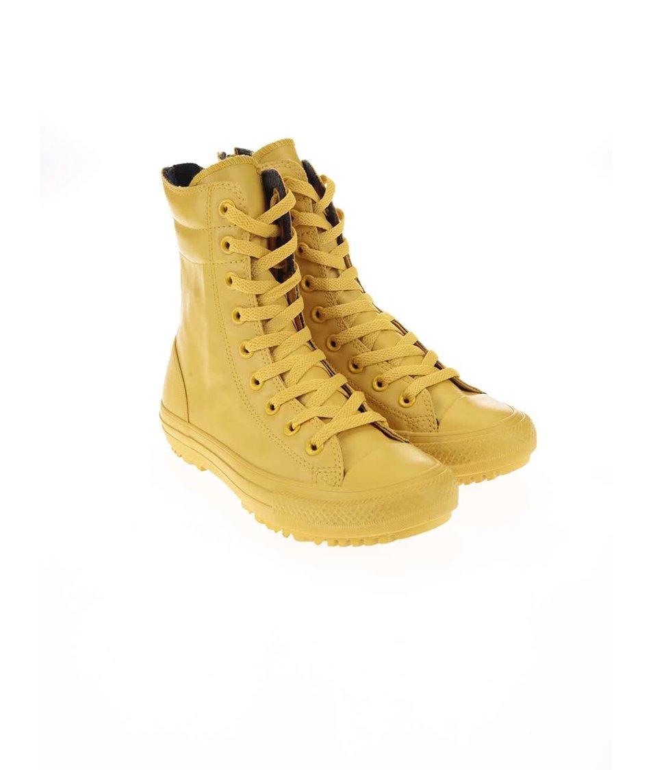 Žluté dámské kotníkové tenisky Converse Chuck Taylor All Star Hi-Rise