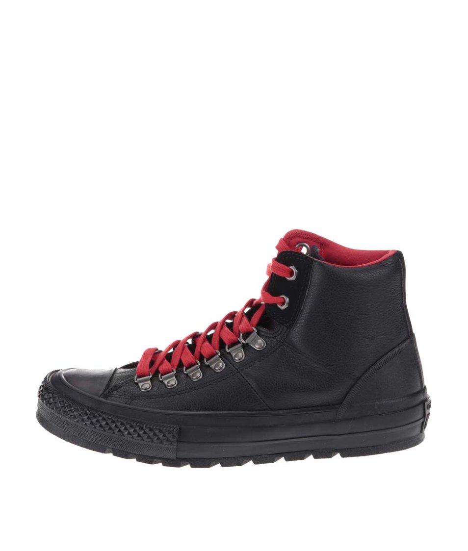 Černé pánské kožené kotníkové tenisky Converse Chuck Taylor All Star Street  Hiker 5d78ad1fd9