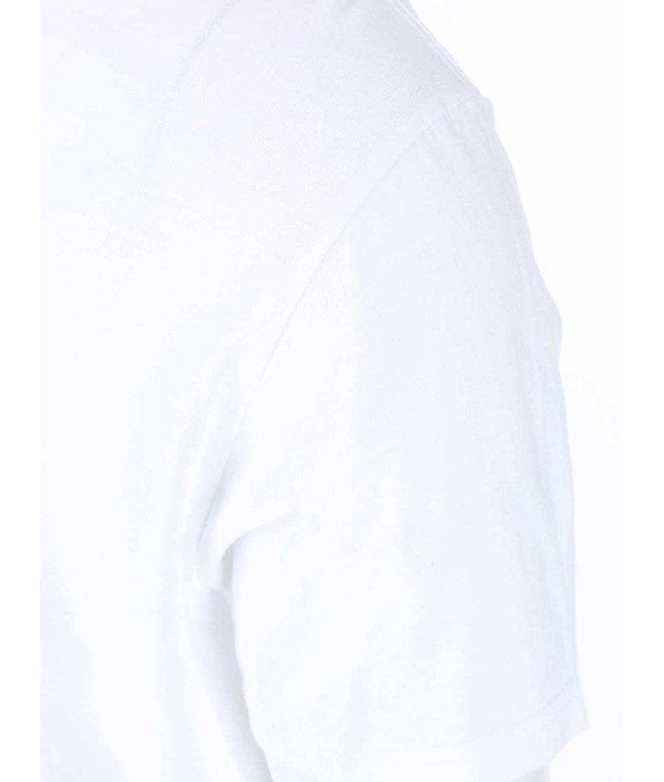 Bílé pánské triko s potiskem tenisky Converse