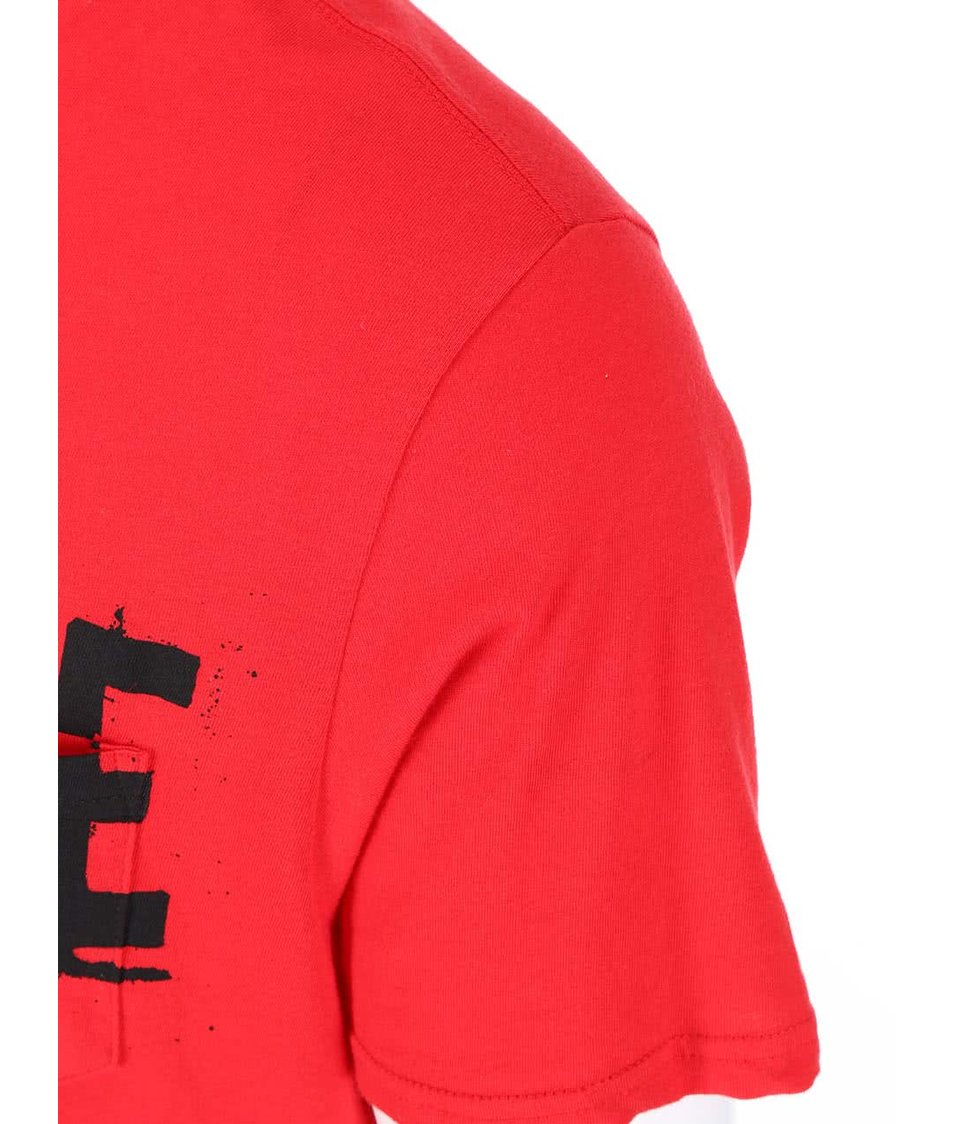 Červené pánské triko s nápisem Converse
