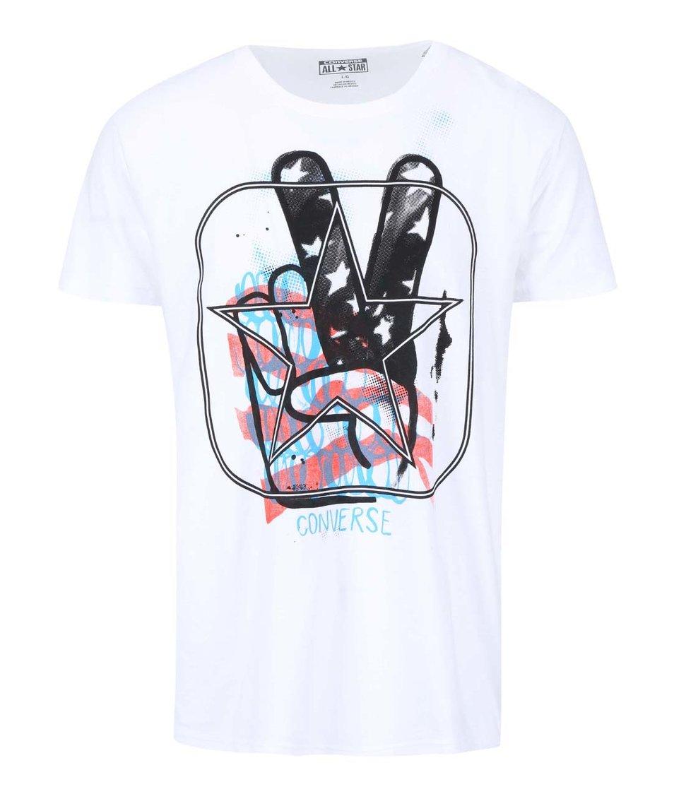 Bílé pánské triko s potiskem Converse