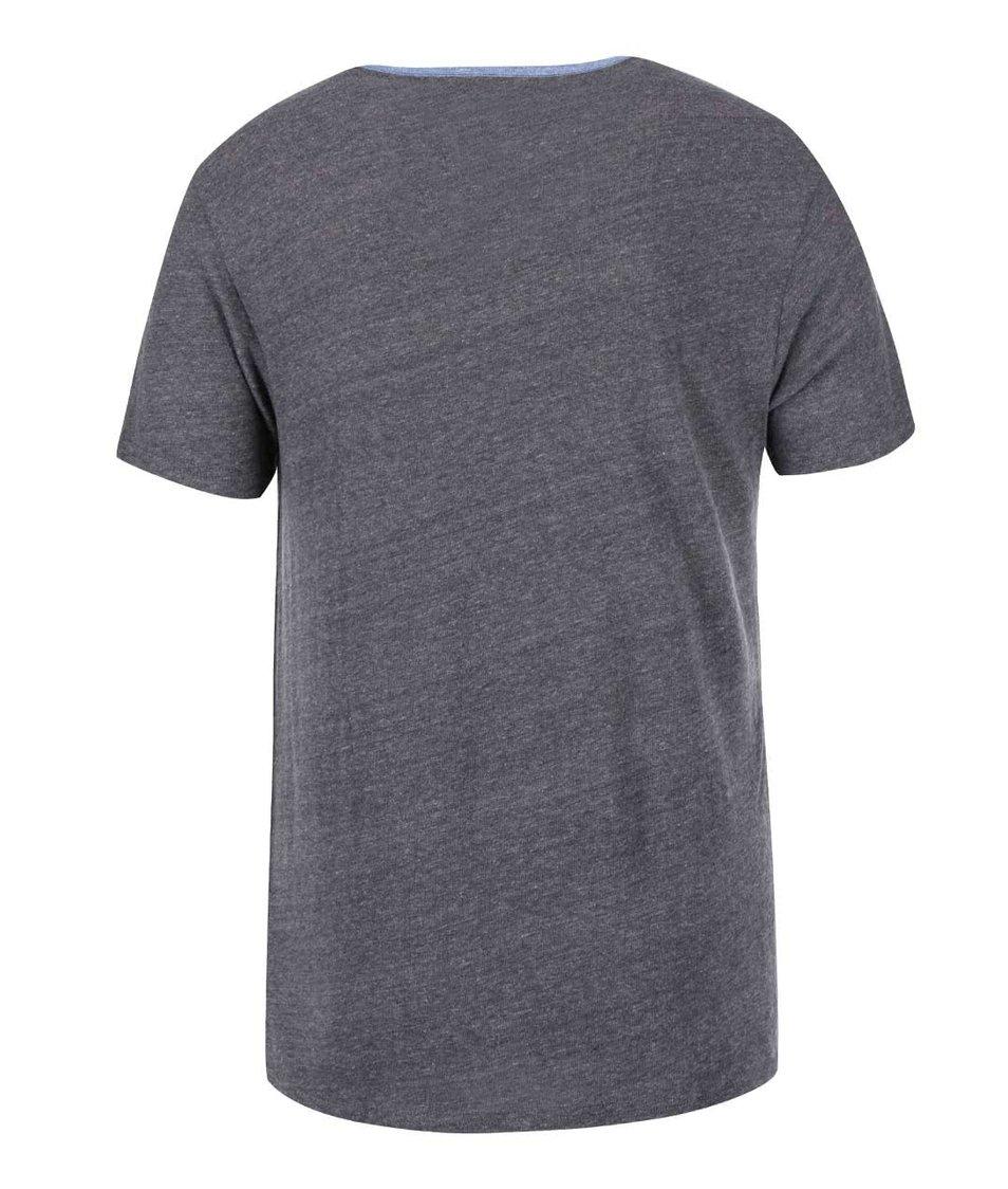 Šedé pánské triko s barevným potiskem Converse