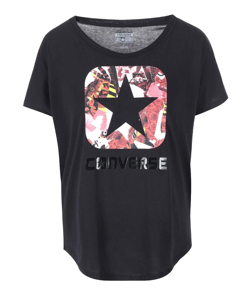 Bílé dámské tričko s potiskem Converse - Vánoční HIT!  3639a9b9835