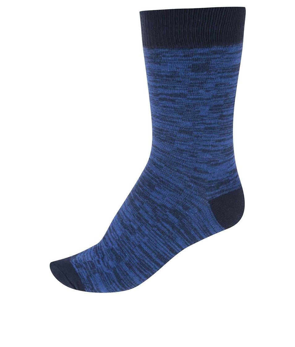 Tmavě modré žíhané pánské ponožky !Solid Rylen