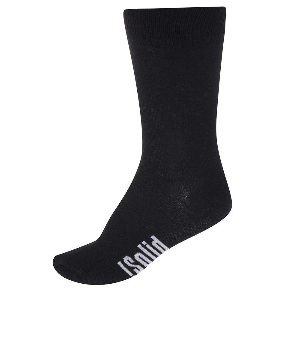 Černé pánské ponožky !Solid Twister
