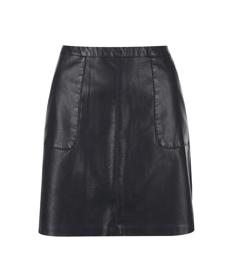Černá koženková sukně New Look