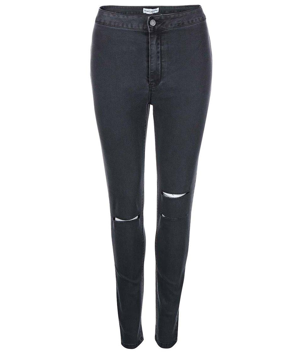 Černé džíny s vyšším pasem New Look