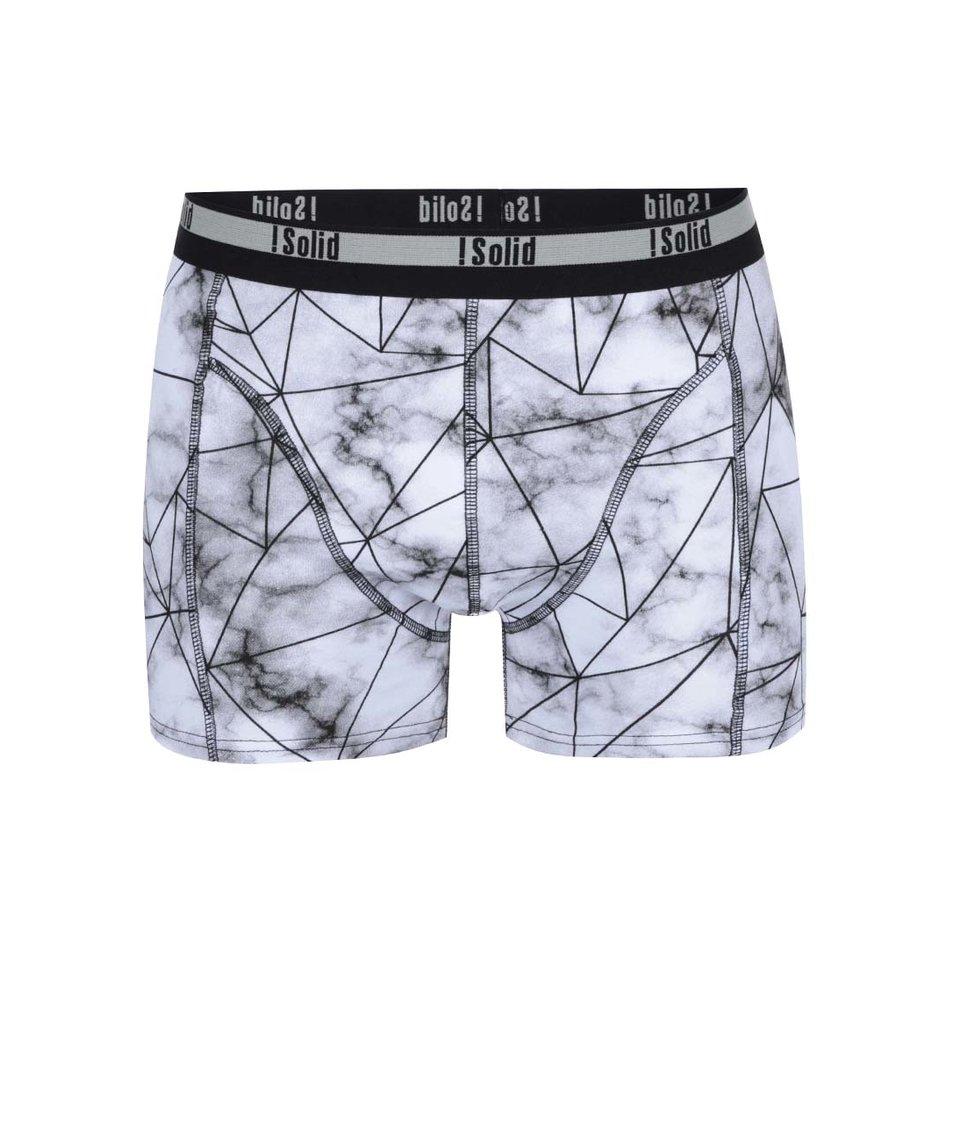 Černo-šedé vzorované boxerky !Solid Semaj
