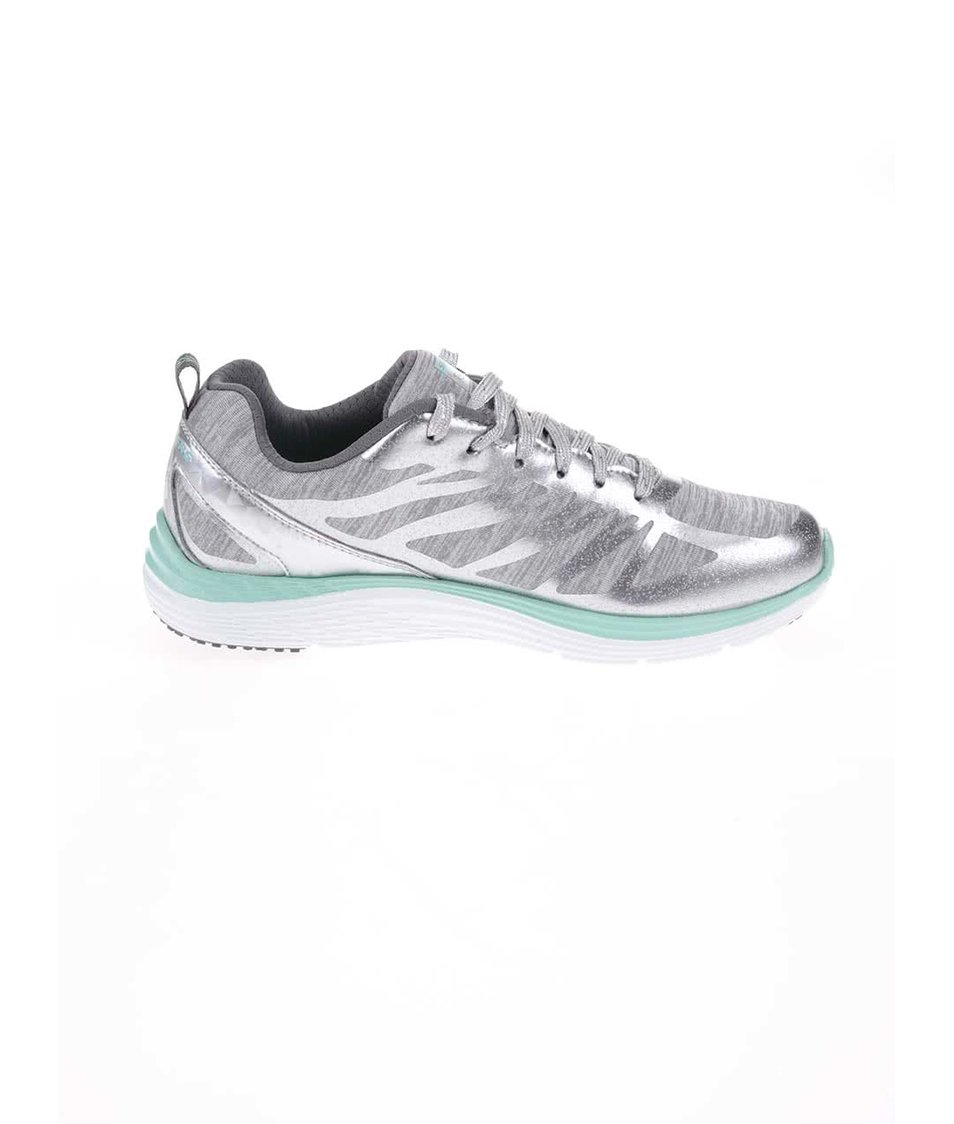 098b53a0f38 ... Sportovní dámské tenisky ve stříbrné barvě Skechers Great One ...