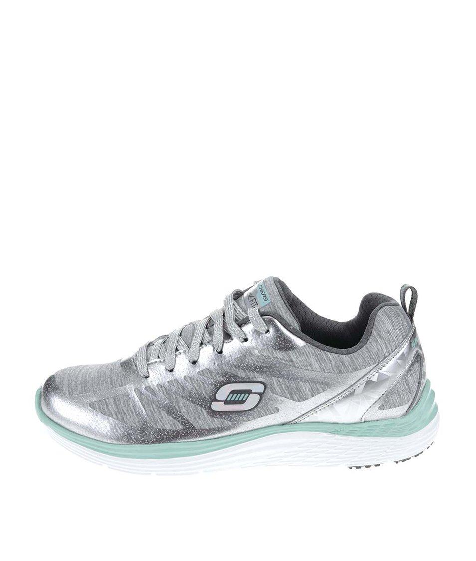 Sportovní dámské tenisky ve stříbrné barvě Skechers Great One