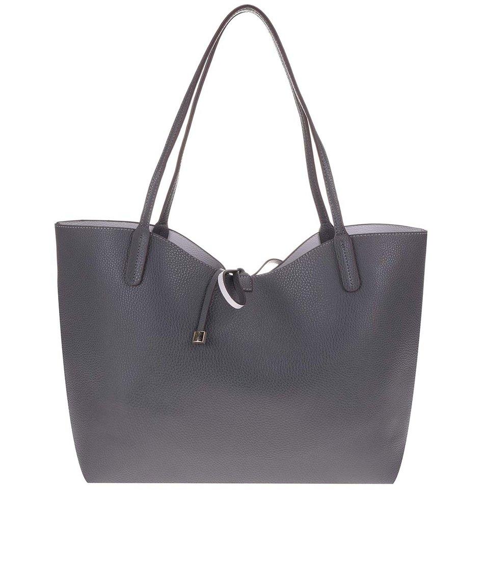Tmavě šedá velká kabelka 2v1 Kris-Ana