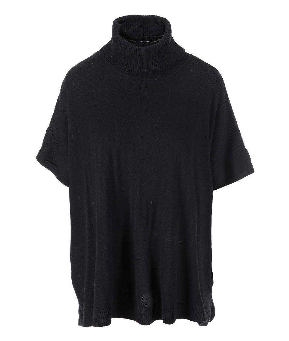 Černý volnější svetr New Look