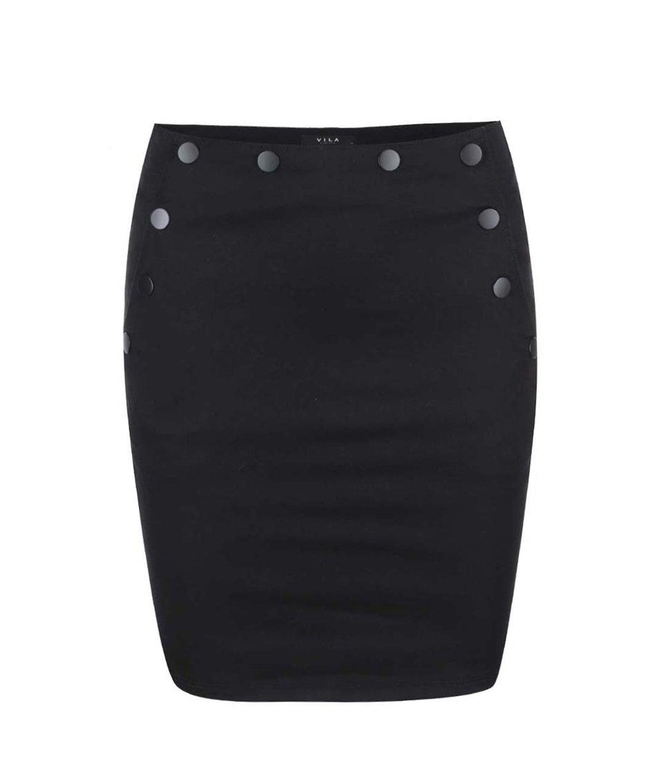 Černá sukně VILA Commina