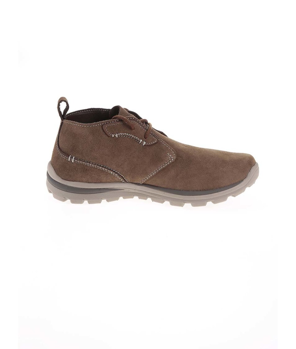 Hnědé pánské kožené kotníkové boty Skechers Hnědé pánské kožené kotníkové  boty Skechers ... 4f876806e6