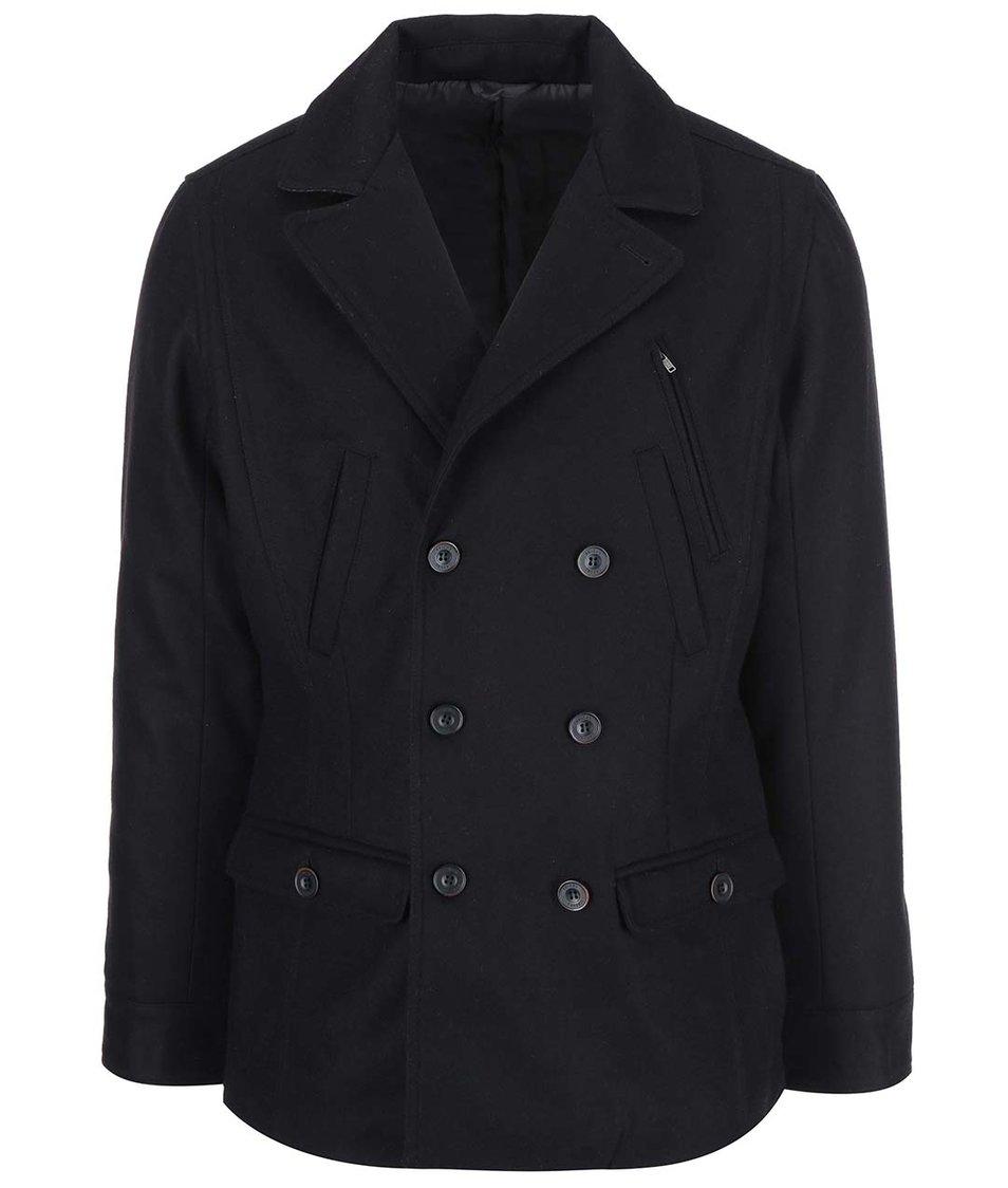 Černý vlněný kabát Casual Friday by Blend
