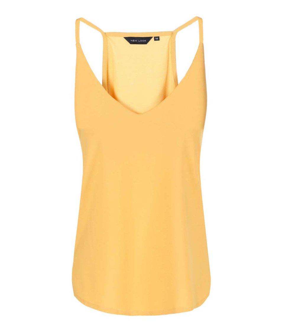 Žluté volnější tílko New Look