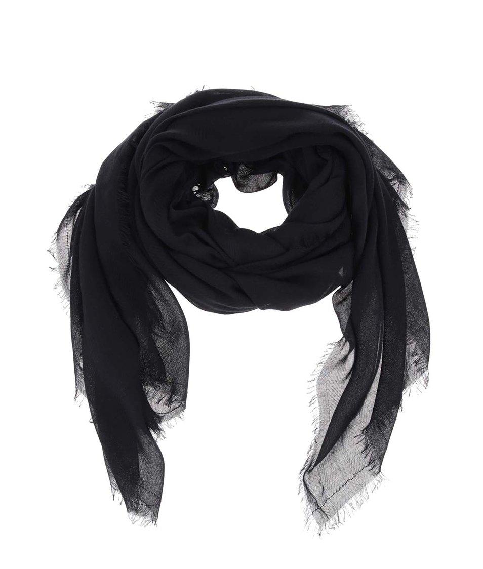 Černý šátek Pieces Nanny