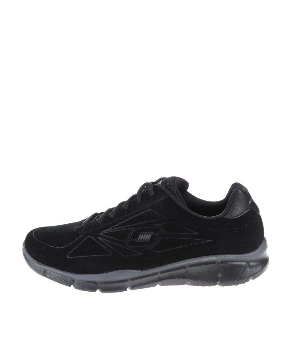 Černé pánské kožené tenisky Skechers Equalizer