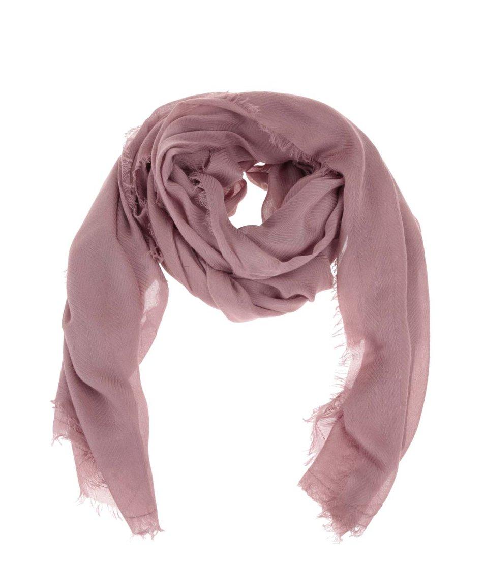 Starorůžový šátek Pieces Nanny