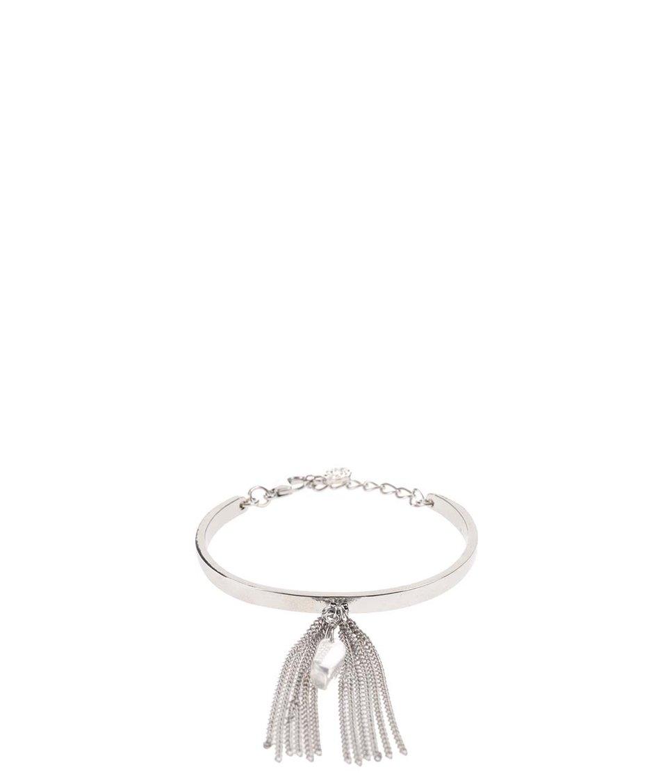 Náramek v stříbrné barvě s řetízkovým střapcem Pieces Veva
