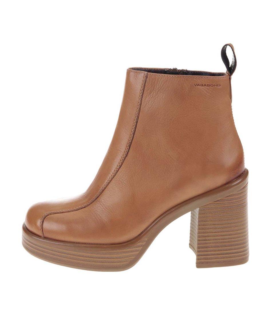 Světle hnědé kožené kotníkové boty Vagabond Tyra