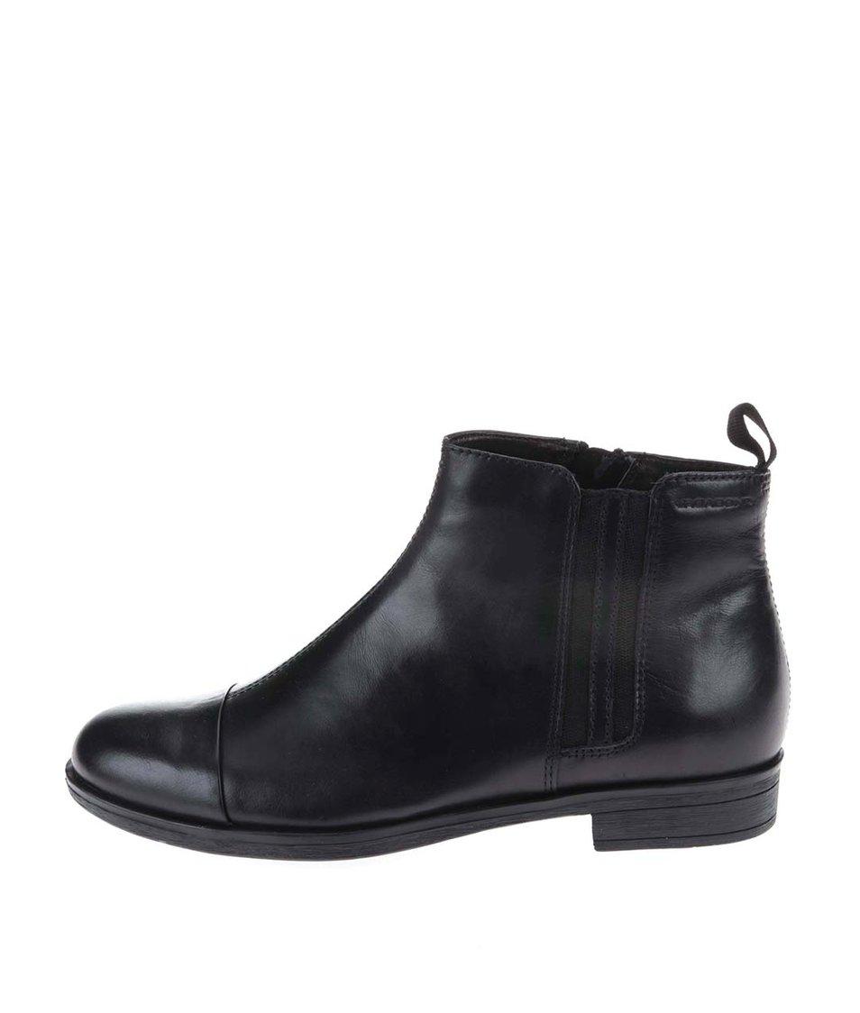 Černé kožené boty Vagabond Code