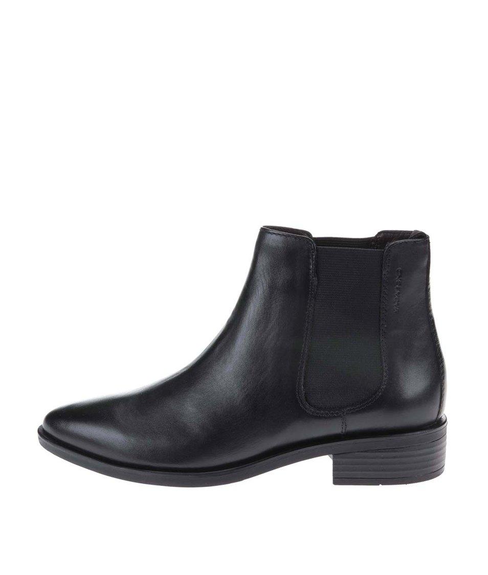 Černé kožené chelsea boty Vagabond Olga