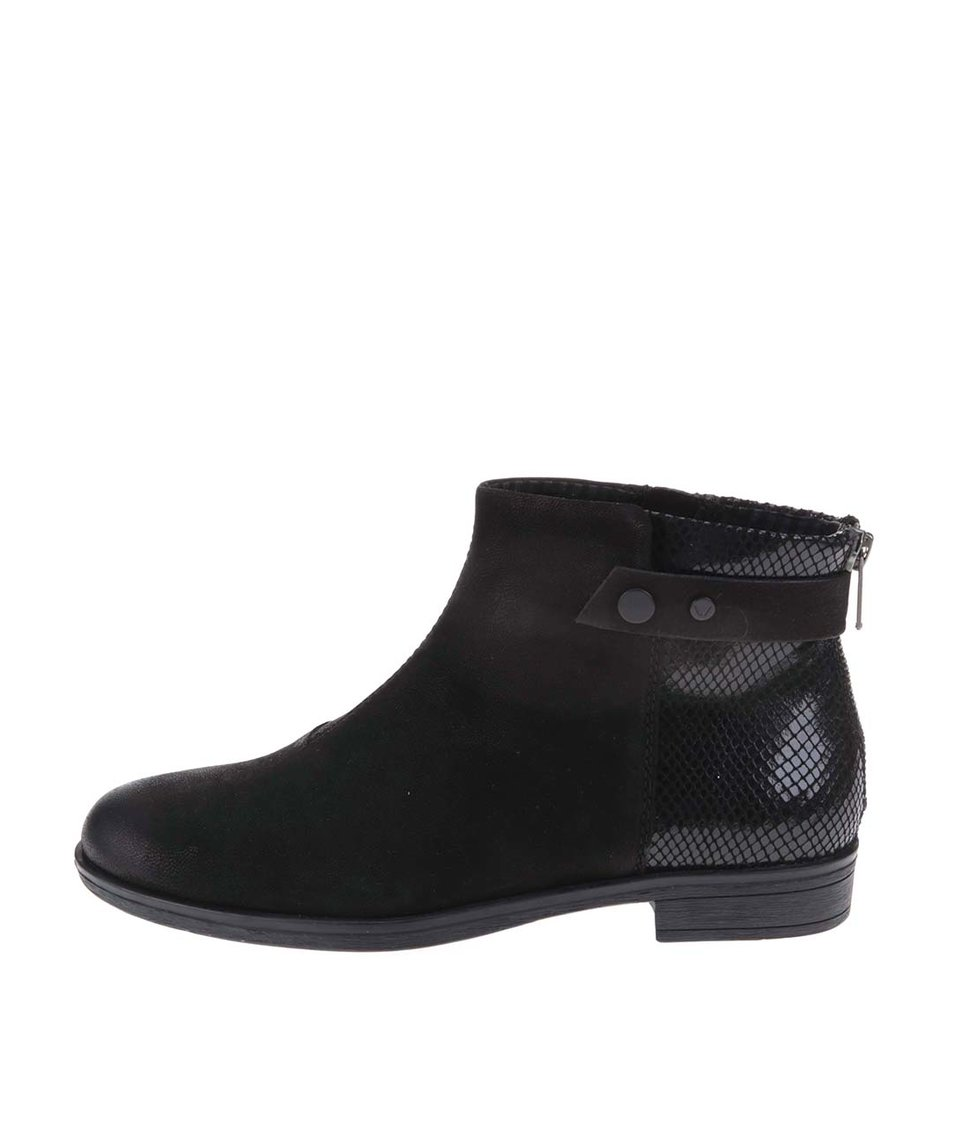 Černé kožené kotníkové boty Vagabond Code