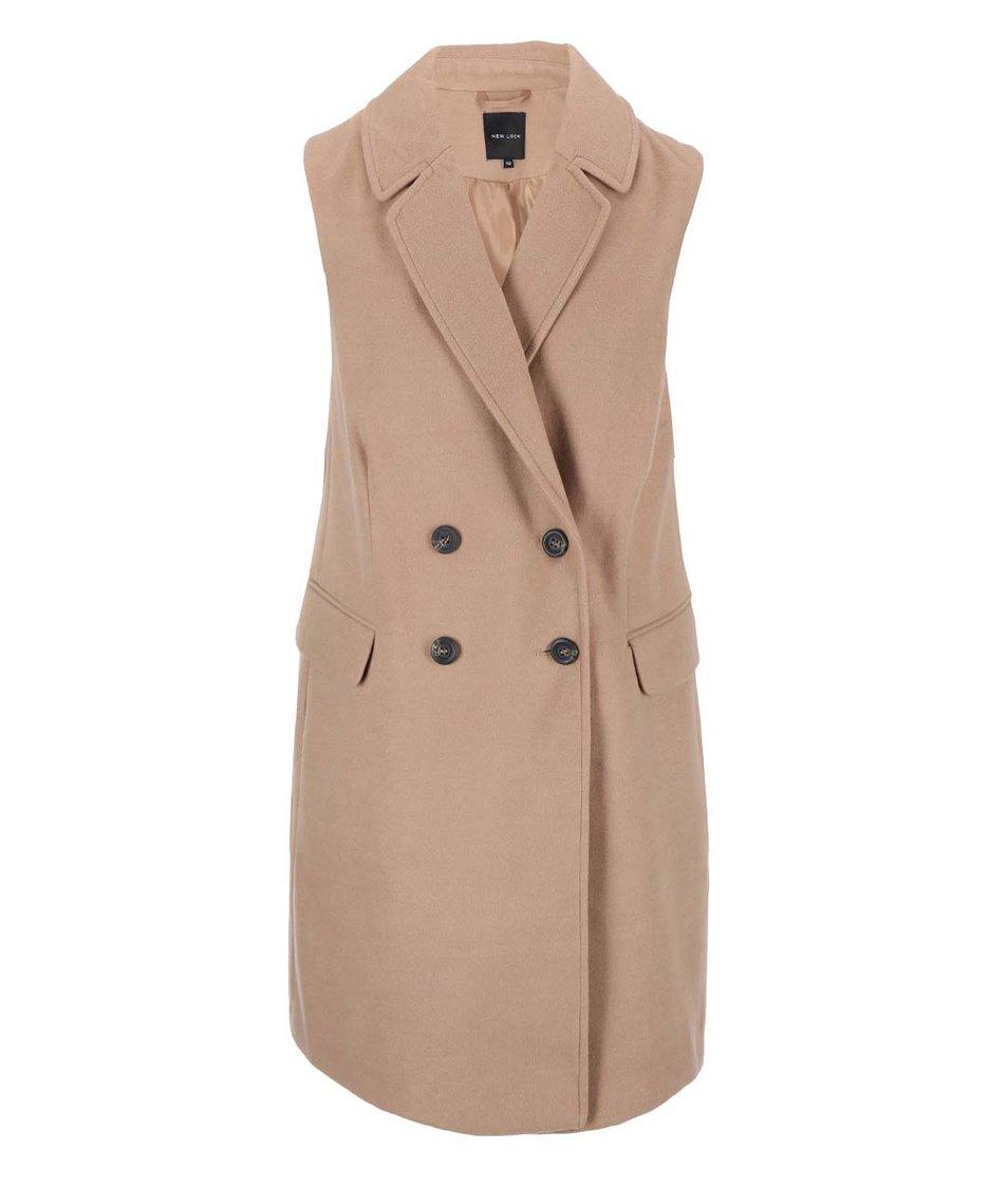 Béžová kabátová vesta New Look