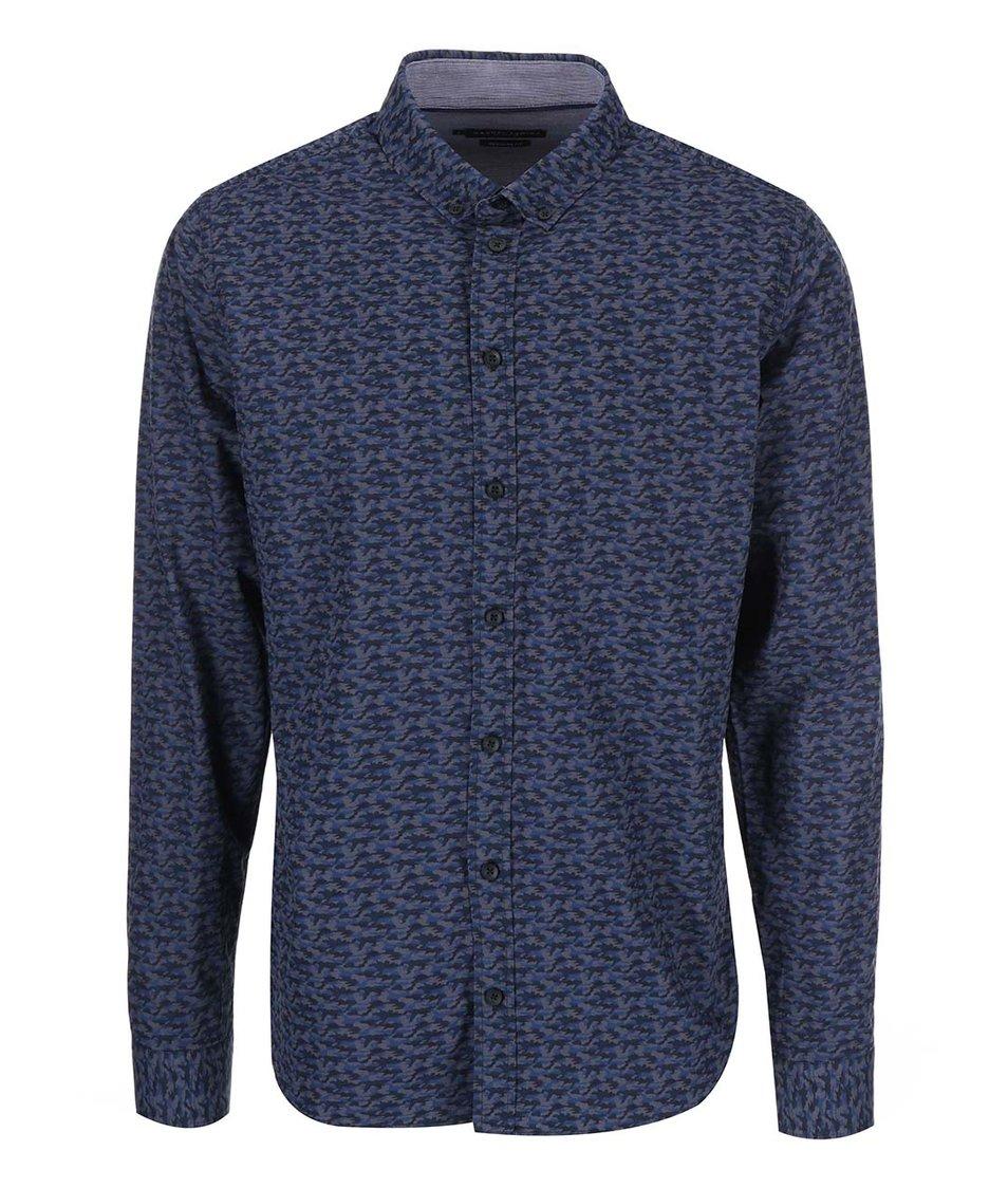Tmavě modrá vzorovaná košile Casual Friday by Blend