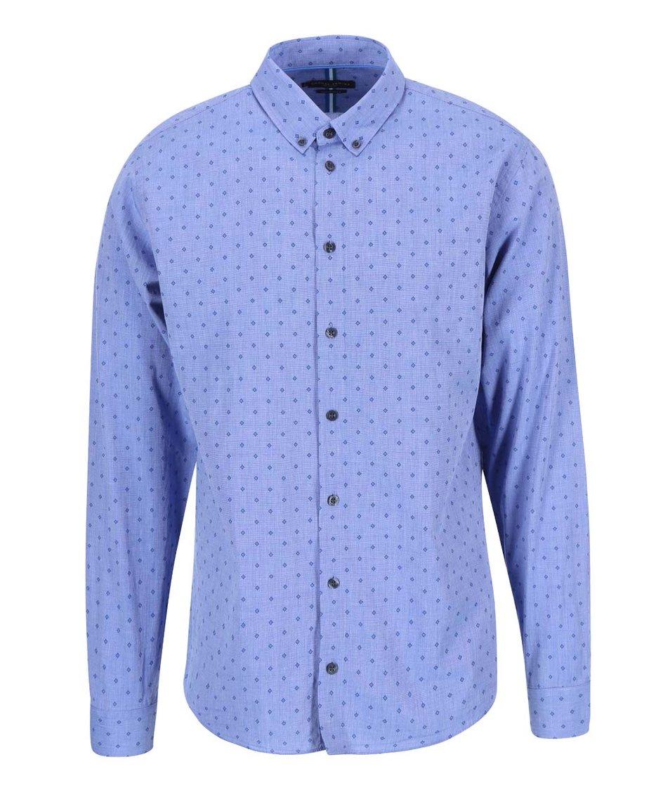 Modrá košile se vzory Casual Friday by Blend