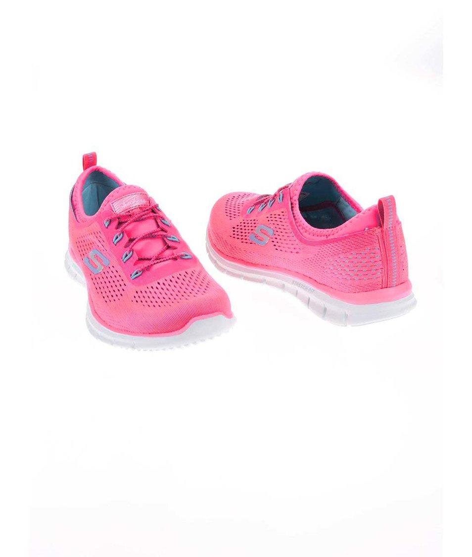 Neonově růžové dámské sportovní tenisky Skechers Harmony - Vánoční ... 5726a6d029