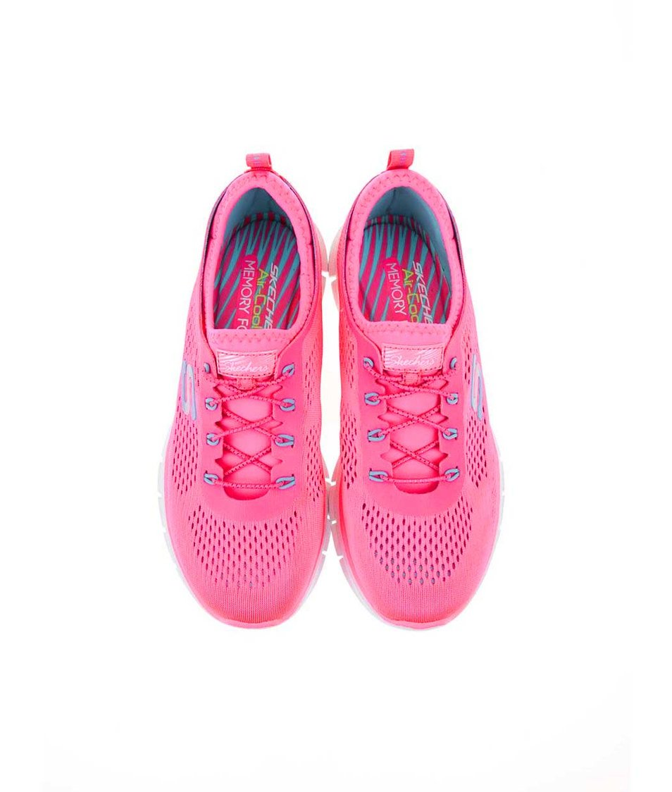 Neonově růžové dámské sportovní tenisky Skechers Harmony - Vánoční ... 8ffa4d7a56b
