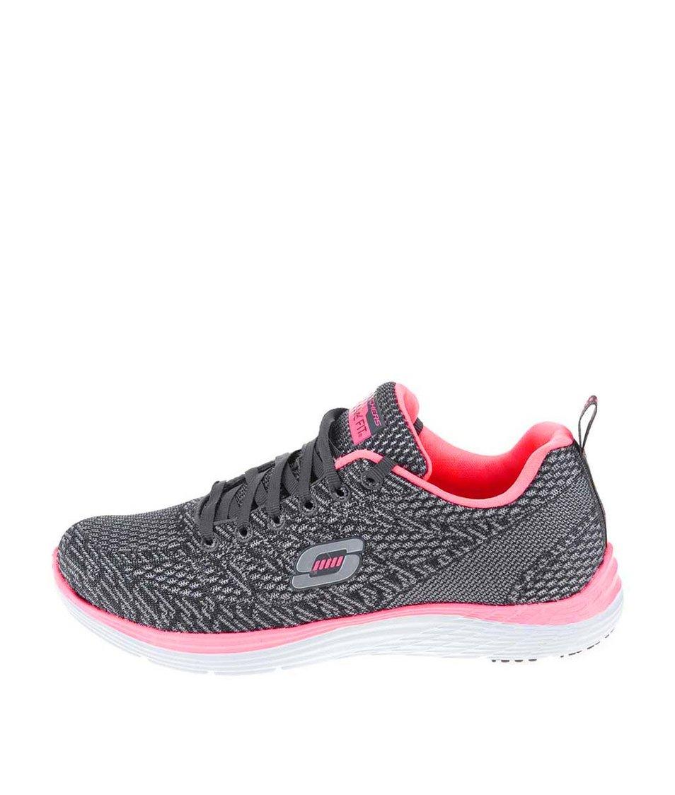 Růžovo-šedé dámské sportovní tenisky Skechers Valeris