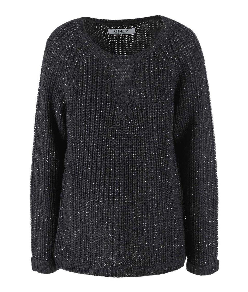 Černý volný svetr ONLY Ana