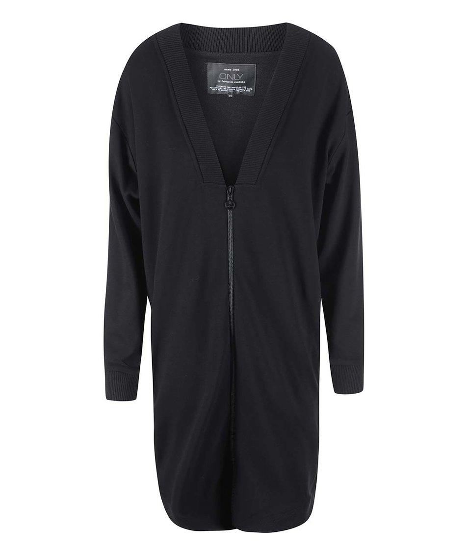 Černé mikinové šaty se zipem ONLY Beryl