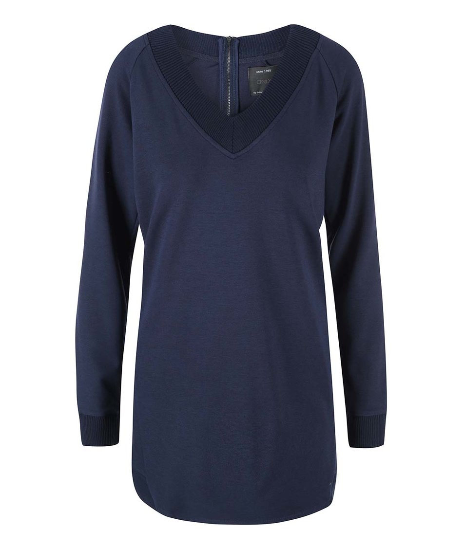 Modrý dlouhý svetr ONLY Beryl