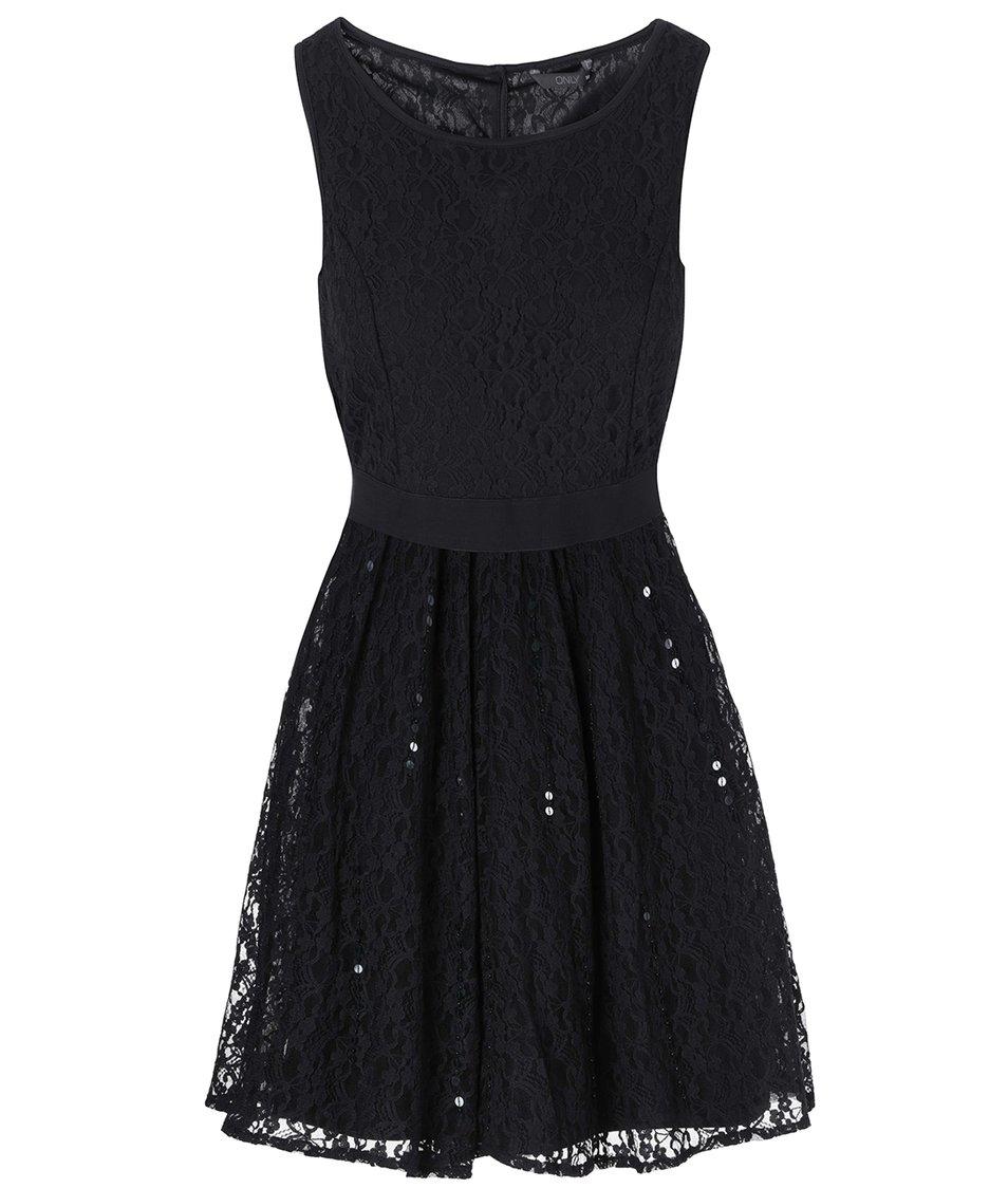 Černé krajkované šaty ONLY Sharon