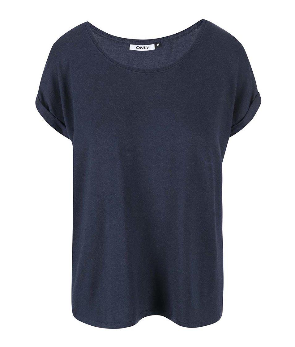 Modré oversized tričko ONLY Moster